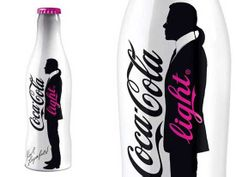 Coca Cola Light Packaging alla Karl Lagerfeld
