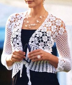 Crochet jacket PATTERN, evening jacket pattern, crochet wedding jacket. - favoritepatterns.com