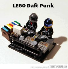 #Lego #DaftPunk #DJ's on the Pinterest page of the Dutch DJ Academy www.djschoolutrecht.nl