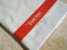 Vintage Unused Vera Neumann Vera Verve White Cloud Tablecloth 60 Round New - Tablecloths