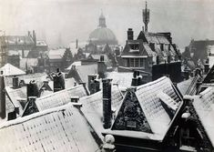 Winter in Amsterdam, The Netherlands, Amsterdam Winter, I Amsterdam, Amsterdam Netherlands, Historical Pictures, Birds Eye View, Vintage Photography, Old Pictures, Oeuvre D'art, Les Oeuvres