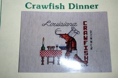crawfish cross stitch - Google Search