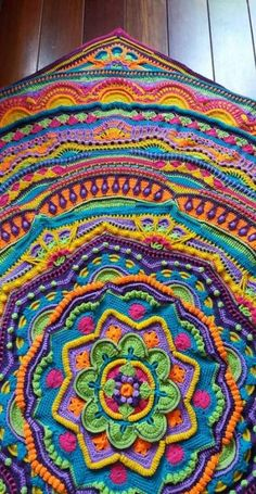 blanket crochet This is one unbelievably beautiful crochet mandala that will most certainly leave you speechless! - This is one unbelievably beautiful crochet mandala that will most certainly leave you speechless!FREE crochet pattern on Ravelry: Baba Mandala Blanket, Mandala Yarn, Crochet Mandala Pattern, Freeform Crochet, Afghan Crochet Patterns, Crochet Squares, Crochet Doilies, Knit Crochet, Crochet Afghans