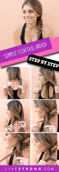Keep you hair out of your face at the gym with a fishtail braid! Here's how to do it.