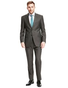 Ultimate Performance Slim Fit Twill Suit with Wool Sets