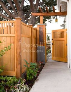 Wood garden gate Linda, this fence looks similar to yours. I love the GATE.