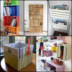 Inspiração para reutilizar caixotes de madeira