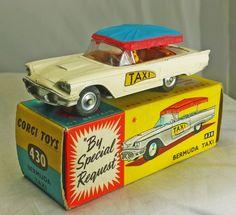 "Corgi No. 430 Ford Thunderbird ""Bermuda Taxi"" Near Mint, w/ box. # 120 | eBay"
