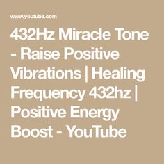 Listening to the frequency resonates inside our body, releases emotional blockages and expands our consciousness. This video uses a frequency ton. Miracle, Self Help, Raising, Mindfulness, Healing, Positivity, Youtube, Music, Musica