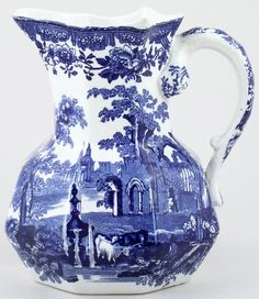RP: Masons Fountains Pitcher c1920