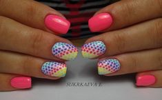 Classic monotone basis and youth paint with a mosaic pattern organically intertwine in this multicolored manicure. Using of pink and ...
