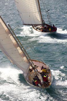 J Class Classic Yachts Racing, Sailboat Race, Classic J Boats, America's Cup winner Defender