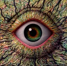 Psychedelic surrealist visionaly art...