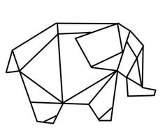 geometric geometrique elephant: