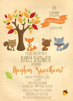 Winter woodland baby shower invitation forest animals birch tree sweet woodland friends baby shower invitations fall baby shower woodland woodland friend baby filmwisefo