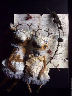 Купить Имбирные Ветра Зачарованного леса - коричневый, тедди, Алёна Жиренкина, платье, мишка