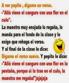 A ver Pepito, Dígame un verso Funny Images, Funny Pictures, One Liner Jokes, Spanish Jokes, Funny Spanish, Funny Jokes, Hilarious, Adult Humor, Really Funny