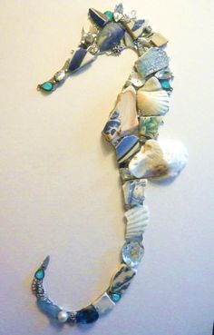 Mosaic Seahorse (Made to order by The Barefoot Beachcomber, Jo Smith, Devon, www.thebarefootbeachcomber.co.uk)