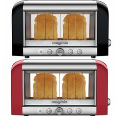The Magimix by Robot-Coupe New Vision Toaster, the world's first see-through toaster, allows you to see the toasting process in action