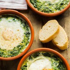 Espinacas con huevos a la crema | sin gluten y sin lactosa - La Rosa dulce