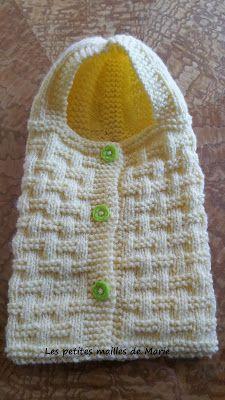 Et si on faisait chauffer nos aiguilles et notre crochet ! Crochet Baby Cocoon Pattern, Crochet Baby Mittens, Crochet Beanie, Baby Knitting Patterns, Baby Patterns, Crochet Stitches, Mittens Pattern, Point, Dress Hats