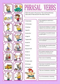 Phrasal verbs matching exercise - Interactive worksheet
