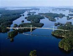 1000 Island Bridge between Canada and the USA