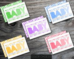 Polka Dot Double Sided Girl or Boy Baby Shower Invitation Green Blue Purple Yellow Pink  by PURPLEgalore, $16.00