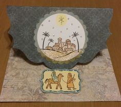 City of David stamps, paper is from Hot off the Press Wonderland Artful card kit, Spectrum Noir pencil, Dazzles, Stickles glitter glue, Spoonful of Snow embossing powder.