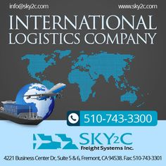 #Sky2C, #International logistic company is none other to compare on rates and on customer service in your area.