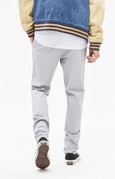 Pacsun Slim Fit Basic Grey Chino Pants - 31W X 32L Gray Grey Chinos e351b241a852