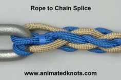 Chain Splice | How to Splice Rope to Chain | Splicing Knots