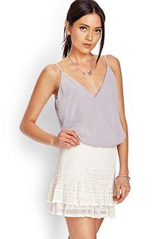 Ruffled Crochet Mini Skirt | FOREVER21 - 2000067965