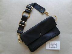 Black Leather Fanny Pack Belt Bag   Etsy Leather Bum Bags, Leather Fanny Pack, Leather Totes, Napa Leather, Black Leather, Lps, Hip Purse, Side Purses, Snap Bag