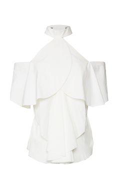 Medium kitx white circle cold shoulder top