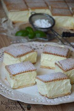 Napoleonka na herbatnikach - ciasto bez pieczenia Cute Desserts, No Bake Desserts, Delicious Desserts, Yummy Food, Baking Recipes, Cake Recipes, Dessert Recipes, 5 Ingredient Desserts, Pastry Cake
