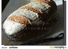 Denní chléb recept - TopRecepty.cz Bread Recipes, Muffin, Cheese, Homemade, Meat, Breakfast, Desserts, Food, Running