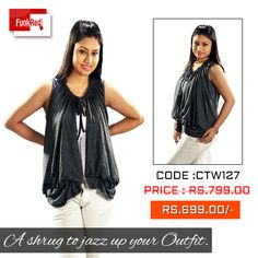 A super cute grey shrug that will certainly enhance the beauty of your outfit.