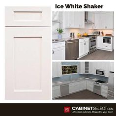 Ice White Shaker Cabinets - Cheap Kitchen Cabinets Tips Mdf Cabinet Doors, Mdf Cabinets, Mdf Doors, Kitchen Cabinet Doors, White Shaker Kitchen Cabinets, Cheap Kitchen Cabinets, Painting Kitchen Cabinets, Kitchen Trends, Kitchen Ideas