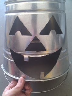 Halloween inspired lantern made with a plasma cutter