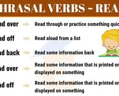 List of Powerful Phrasal Verbs in English! In this lesson, we will learn about the most common phrasal verbs (phrasal verbs with get, phrasal verbs with make.) in English, with meanings and example sentences. English Verbs, English English, English Study, Learn English For Free, Improve Your English, Back Read, Bring Me Down, Myself Essay