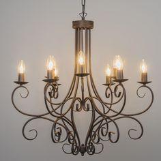 Kronleuchter Romantica 9 rostfarben #Lampe #Light #einrichten #Innenbeleuchtung #wohnen #Leuchte #Herbst