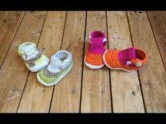 Crochet Sandale bébé très facile ! 1 / Crochet Baby sandals very easy ! 1 - YouTube