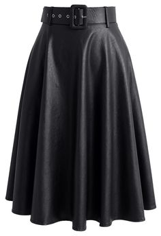 On the Modish Way Faux Leather Skirt in Black - New Arrivals - Retro, Indie and Unique Fashion