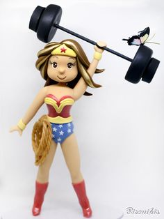 Biscuits, My Birthday Cake, Barbie, Fondant Figures, Air Dry Clay, Birthday Greetings, Cake Toppers, Wonder Woman, Superhero
