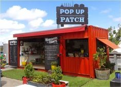 Pop Up Patch: l'orto sul tetto | boutique/market stall ideas ... #mobilemarketingstall #coffeeshopinteriors