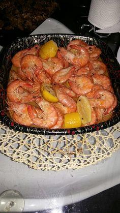 krevety s chili na citronovej omacke