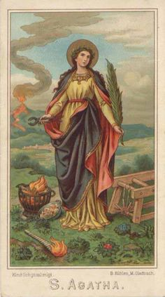 theraccolta:  St. Agatha of Sicily, Virgin and Martyr 5 February