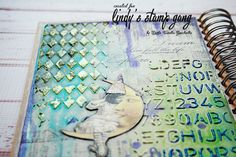 Lindy's Embossed Modelling Paste Technique Embossing Powder, Journal Art, Past, Paper Crafts, Stamp, Model, Past Tense, Tissue Paper Crafts