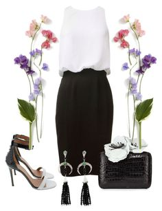 """""""Outfit # 2326"""" by voltinimiriam ❤ liked on Polyvore featuring L'Agence, Givenchy, Nancy Gonzalez and Shaun Leane"""